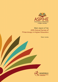 2015 Annual Survey of Philanthropy in Higher Education (ASPIHE) in South Africa.