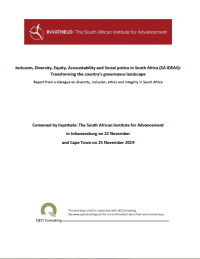 Report from a dialogue on diversity, inclusion, ethics and integrity in South Africa