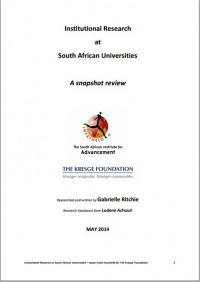 Institutional Research at South African Universities: A snapshot review